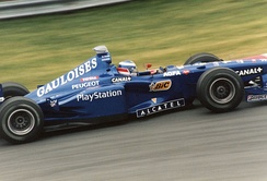 Olivier Panis driving for the Prost Grand Prix team at the 1998 Canadian Grand Prix