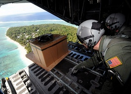 The US Air Force has dropped presents and humanitarian aid to the islands every Christmas since 1952.