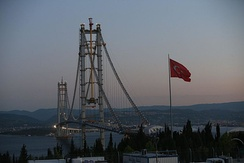 Osman Gazi Bridge in İzmit Bay is one of the longest suspension bridge in the world.