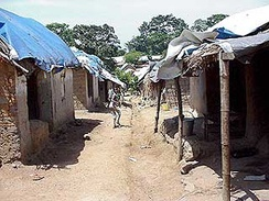 A camp in Guinea for refugees from Sierra Leone