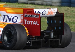 The rear wing was higher and narrower.