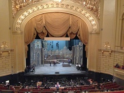 The stage of the War Memorial Opera House in San Francisco.