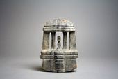 Mezcala temple model with a figure in centre, 1st–8th century, made of stone, in the Metropolitan Museum of Art (New York City)
