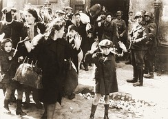 Polish Jews captured by Germans during the Warsaw Ghetto Uprising, May 1943