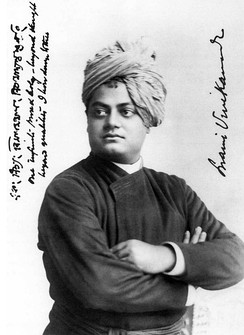 Swami Vivekananda was a key figure in introducing Vedanta and Yoga in Europe and the United States,[82] raising interfaith awareness and making Hinduism a world religion.[83]