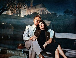 Van Johnson and Taylor in the romantic drama The Last Time I Saw Paris (1954)