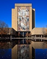 The Word of Life mural on the side of the Hesburgh Library at the University of Notre Dame.