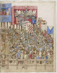 Page from King René's Tournament Book (BnF Ms Fr 2695)