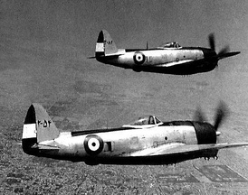Two P-47 Thunderbolts of IIAF over Tehran.