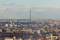 View from Imperia Tower to Ostankino Tower