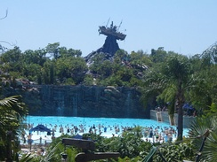 Typhoon Lagoon, one of two waterparks at the resort