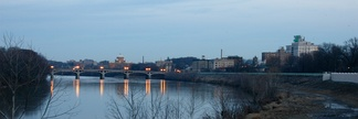 The Susquehanna River and Wilkes-Barre City