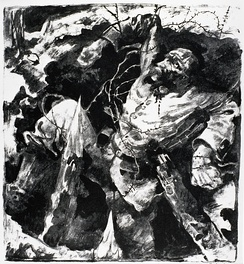 Dying Soldier in a Trench (1915) by Willy Jaeckel
