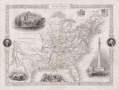 1850 Tallis Map of the United States ( Texas at fullest extent) – Geographicus – United States-tallis-1850