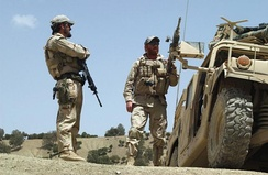 Special Forces on a patrol in Afghanistan