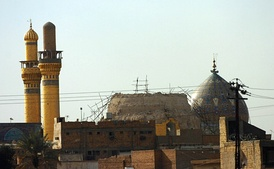 The Al-Askari Mosque, one of the holiest sites in Shia Islam, after the first attack by Wahhabi affiliated Al-Qaeda in Iraq in 2006