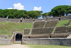 Cavea of the Amphitheatre of Pompeii