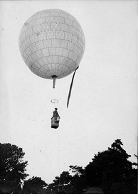Santos-Dumont's first balloon, the Bresil