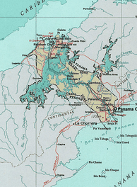 The Panama Canal Zone, which was established on shaky legal grounds,[38] bisected Panama and led to incidents such as Martyrs' Day and the United States invasion of Panama.