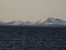 The Kotzebue Sound as seen from Cape Krusenstern National Monument.