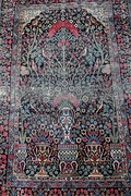 Pictorial carpet with Tree of life, birds, plants, flowers and vase motifs