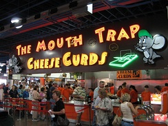 A stand selling cheese curds