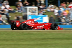 Piccione driving for RC Motorsport at the Donington Park round of the 2007 World Series by Renault season.
