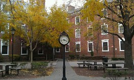 The Rutgers Quad Clock on College Avenue.