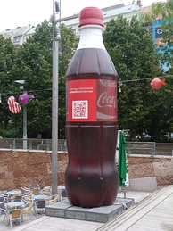 Coke advertisement in Budapest, 2013