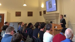 A lecture in Wycliffe Hall's LCR
