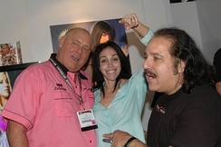 Dennis Hof, Heidi Fleiss, and Jeremy at the Adult Video Network Convention in Las Vegas, 2006