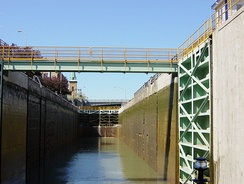 The modern single lock at the Niagara Escarpment