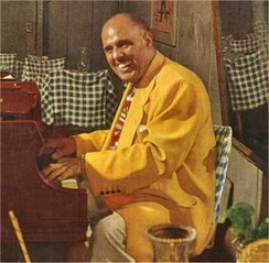 Fats Pichon on an LP cover in the 1950s