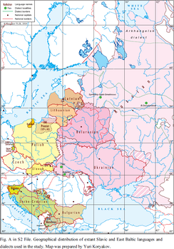 Ethnographic Map of Slavic and Baltic Languages