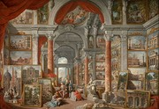 Giovanni Paolo Panini, Picture Gallery with Views of Modern Rome, 1757