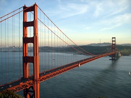 The Golden Gate Bridge in San Francisco, one of California's most famous landmarks