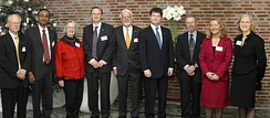 Elinor Ostrom with the other 2009 Nobel Laureates