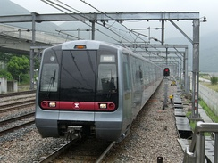 MTR train on the Tung Chung line