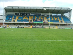 The new Carnegie Stand at the rugby ground