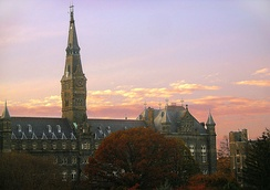 Healy Hall at sunset