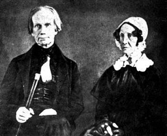 One of the few images of Lucretia Hart Clay, depicted with her husband, Henry Clay