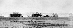 DH4 aircraft at the Air Board air station at High River, Alberta, 1922. The aircraft were used for forestry patrols and photography.