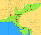 Extent and major sites of the Indus Valley Civilization in pre-modern Pakistan and India 3000 BC