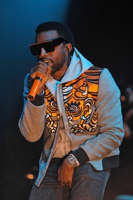 Kanye West performing in 2008