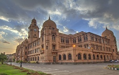 Karachi features several examples of colonial-era Indo-Saracenic architecture, such as the KMC Building.