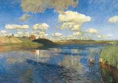 Lake. Russia 1900. The last, unfinished Levitan painting.