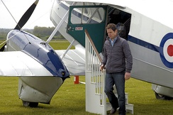 A Countryfile segment being filmed with Matt Baker at Cotswold Airport