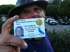 Medical cannabis card in Marin County, California, U.S.A.