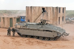 Namer APC during Non-Developmental Vehicle assessment.