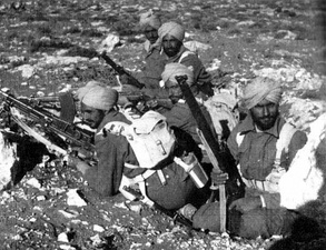Indian Army troops in action during Operation Crusader in the Western Desert Campaign in North Africa in November/December 1941